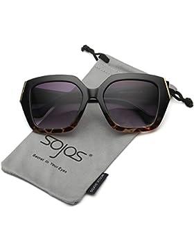 SojoS Gafas De Sol Único Marco Cuadrado Oversize De Moda SJ2029