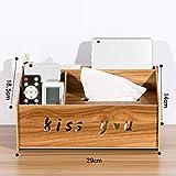 YUPIAOXIA Multifunzionale Carta Asciugamano Box Cartone Desktop Storage Box Soggiorno Tavolo tavolino da caffè Telecomando pompaggio di Carta Scatola di stoccaggio B1