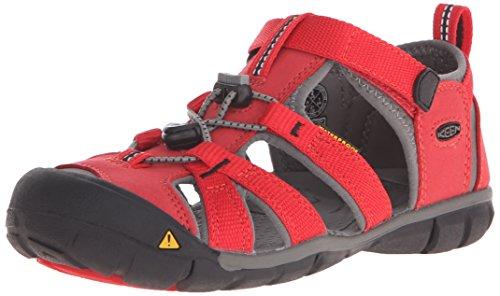 Keen Unisex Baby Seacamp II CNX Lauflernschuhe, Rot (Racing Red/Gargoyle), 36 EU (Unisex Racing Schuhe)