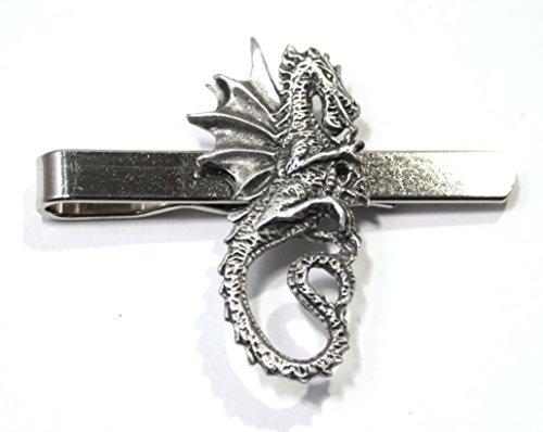 Dragon Tie Clip (slide) in Fine English Pewter, Gift Boxed (hin)
