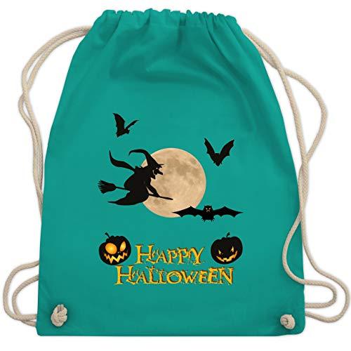Halloween - Happy Halloween Mond Hexe - Unisize - Türkis - WM110 - Turnbeutel & Gym Bag (Halloween Happy Witze)