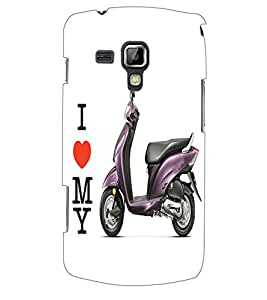 ColourCraft Scooty Back Case Cover for SAMSUNG GALAXY S DUOS S7562