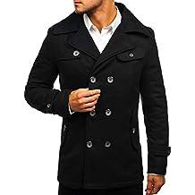 pretty nice f91db 82b9d Amazon.it: cappotto doppiopetto uomo - Nero