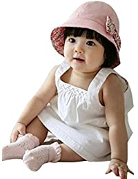 Voberry Baby-Girl s Pros and Cons of Dual-Use Cotton Bow Sun Hat Fisherman 27ef81f6bb