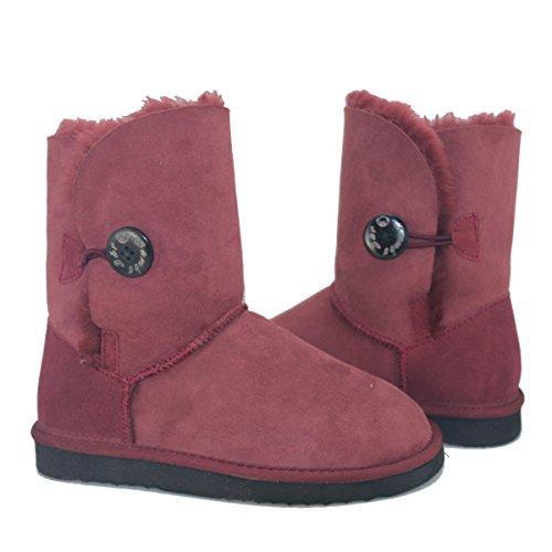 BamboBr-Bailey-Button-Boots-mit-Lammfell-und-echtes-Leder-Damen-Stiefel-Schlupfstiefel-Winter-Boots-39-Dunkel-Rot