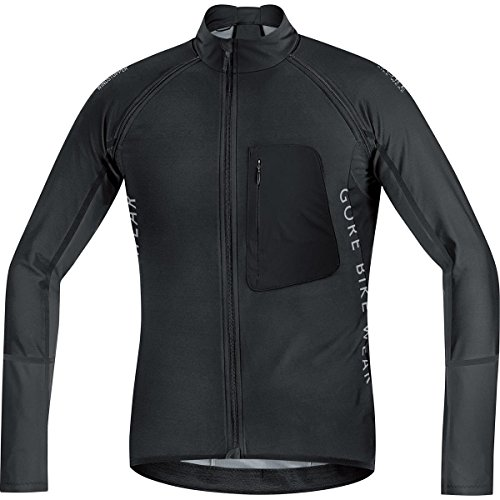 Gore Bike Wear Alp-X Pro Windstopper Soft Shell Zip-Off - Maillot para hombre, color negro, talla XL