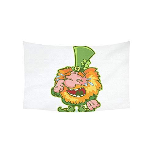 Gnome Frauen Kostüm - LMFshop Tapisserie Lachen Redhaired GNOME Grün Kostüm Lustige Wandteppiche Wandbehang Blume Psychedelic Tapisserie Wandbehang Indischen Wohnheim Dekor Für Wohnzimmer Schlafzimmer 60 X 40 Zoll