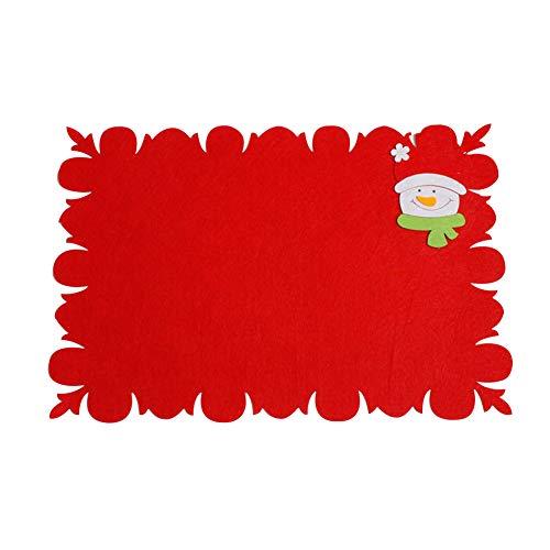Leisial Set de Table Antidérapante en Non Tissé Dessous de Verre Créatifs Noël Décoration de Table pour Cuisine Salle à Manger(2)