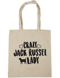 HippoWarehouse Jack Russell Lady Bolso de Playa Bolsa Compra Con Asas para gimnasio 42cm x 38cm
