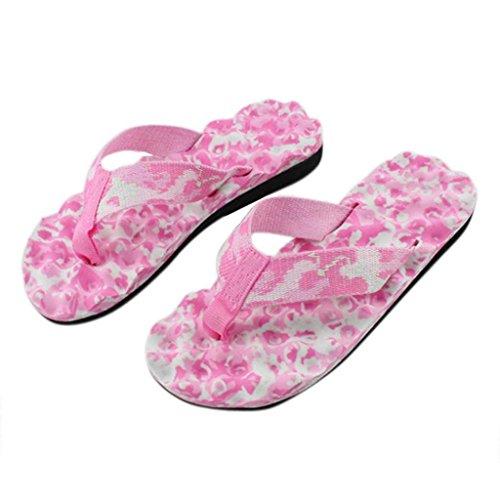 Bonjouree Tongs Femmes Sandales Plates Ete Flip-Flops Slippers Rose