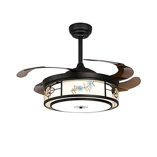 Einbauleuchten Badezimmer-fan (CUICANH LED Deckenleuchte,Einfache Moderner Deckenlampe Mit den fans Remote control Versenkbare klingen Für Wohnzimmer Restaurants Schlafzimmer-C (22x19inch))