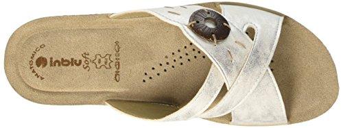 Inblu GL000010, Ciabatte Donna Bianco