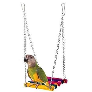 Lalang Niedlich Glücklich Haustier Vogel Holz Leiter Klettern Papagei Sittich Wellensittich Nymphensittich Käfig Hängematte Schaukel Spielzeug Hängende