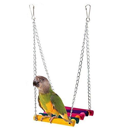 Lalang Niedlich Glücklich Haustier Vogel Holz Leiter Klettern Papagei Sittich Wellensittich Nymphensittich Käfig Hängematte Schaukel Spielzeug Hängende (Vogel Holz Käfig)