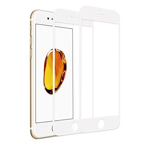 RHESHIN Panzerglas Schutzfolie Kompatibel für iPhone 6 iPhone 6s [2 Stück], 3D Vollständige Abdeckung Displayschutzfolie 9H Härte, Anti-Öl, Kratzer und Blasenfrei (Weiß)