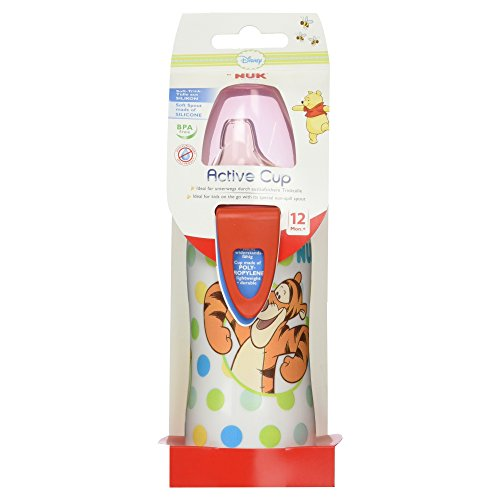 Nuk 10255081, Botella Active Cup Winnie the Pooh Silicona