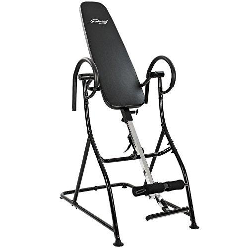 Physionics Rückentrainer Hometrainer Schwerkrafttrainer Inversionsbank Training Inversionstrainer mit verstellbarem Fußrahmen und Sicherheitsgurt belastbar bis 100kg
