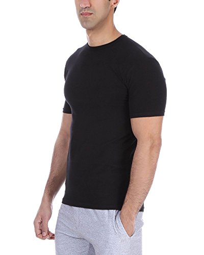 SOLO Original, Feel Comfortable. Business Stretch T-Shirt-Rundhalsausschnitt. Slim-fit. ägyptischer Baumwolle (XXXL, Black) -