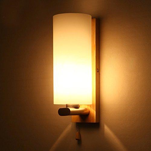 lampe de mur lampe nordique créative de chevet chambre balcon chambre escalier couloir mur en bois mur sconce