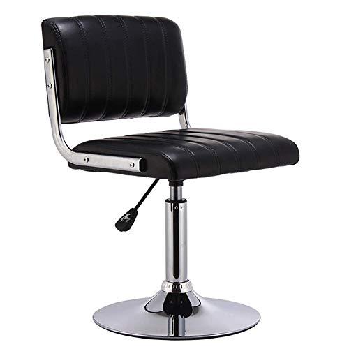 QJIAXING Table De Cuisson Pivotant Tabouret Bar Chaise Chrome Repose-Pieds Haut Dossier Arrière,Color4,68Cmx38.5Cmx40cm