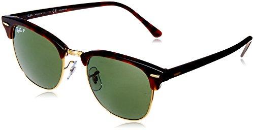Ray-Ban RAYBAN Unisex-Erwachsene Sonnenbrille 0RB3016 990/58 51, Red Havana/Crystalgreenpolarized