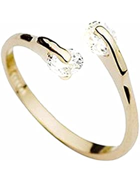 Armreif, weiß, Kristall, Kupfer, vergoldet, offen, verstellbar, Modeschmuck