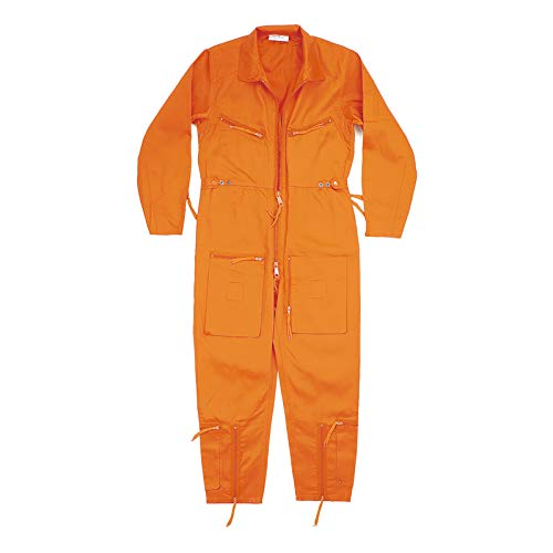 Flight Tech Inc PILOTENANZUG Piloten Continental Aviators Flying Overall RAF Boilersuit Gr. 52, Mehrfarbig - Orange