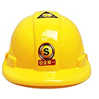 1pc Children Helmet Toy Yellow Protective Cap for Children Construction Costume Engineer Helmet Construction and Construction Toys for Cosmetics Games for Children at The Age from 3 to 8 Years