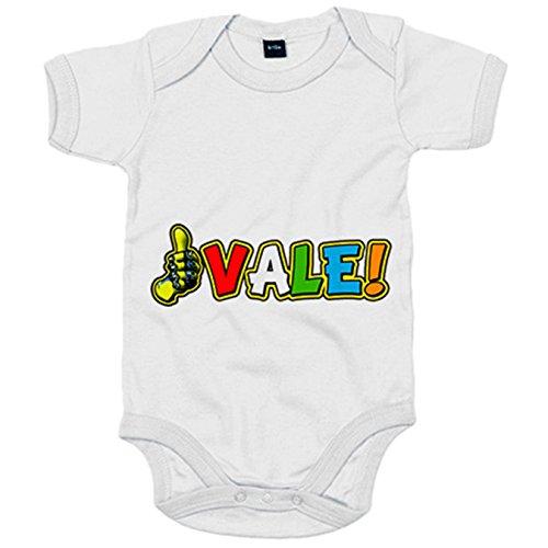 Body bebé motero Vale Il Doctore - Blanco, 6-12 meses