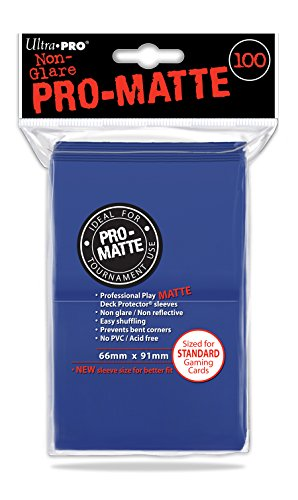 Ultra Pro Ultra proaccpro044-blue Abysse 100Stück PC pro-Matte Deck Protectors (6,6x 9,1cm) - Deck Matte