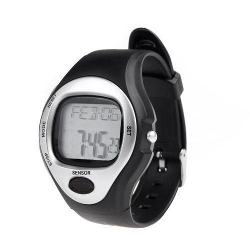 Anself Frequenza cardiaca di impulso Monitor Conta Calorie Fitness Sportivi Esercizio Orologio da Polso (Argento)