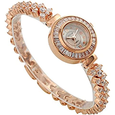 ANNA&JOE Nuovo signore tempestato di strass gioielli impermeabile Giappone movimento che orologio da polso orologi , gold - Giappone Strass