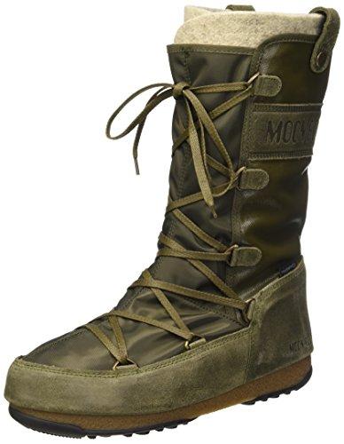 Moon Boot W.E. Monaco Mix, Stivali, Unisex - adulto, Verde (Verde Militare), 38