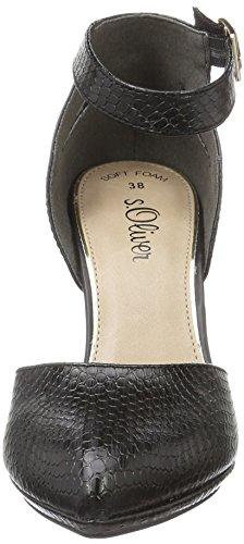 s.Oliver 24410, Sandales Bout Ouvert Femme Noir (Black 001)