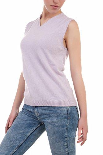 Lagnamelagna Cachemire - La60 - Gilet pour femme 100% cachemire. L- 21314 - Rosa Baby