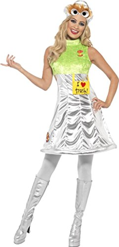 Ladies film/tv Sesame Street Oscar ufficiale Fancy Dress Costume Completo Outfit Multi X-Small