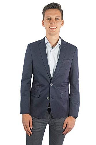 PME Legend Herren Sakko Einreiher zweiknopf Jackett Blazer Anzug Klassisch Sportlich Regular Blau Casual für Männer, Größe:L, Farbe:Blau -