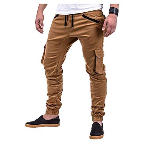 männer nehmen Sport gesponnene Taschen nähende Fuß Hosen ab Fashion Personality Casual Sports Pants Woven Pocket Stitching Trousers Khaki Beige Schwarz Grau Navy M/L/XL/XXL/3xL -