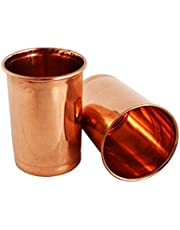 Generic Copper Glasses (350 ml, Brown) -Set of 2