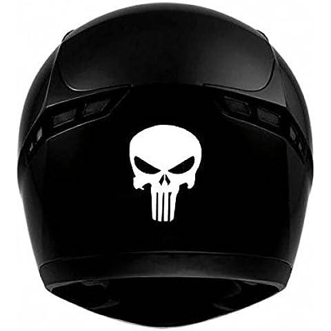 Cráneo Skull casco Moto–Adhesivo decorativo–Rosa