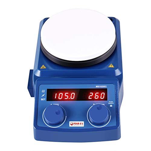 Four E's Scientific LCD-Display Magnetrührer Φ135mm 100-1500 UpM Rührmenge 5L, 3D digitale Heizplatte, bis 320°C, Rühren und Erhitzen, zum gleichzeitigen Mischen mit Magnetrührstäbe EU-Stecker (Magnetrührer-heizplatte)