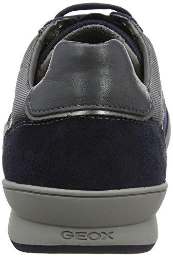 Geox  U Kristof A, Sneakers Basses homme Bleu (Navyc4002)