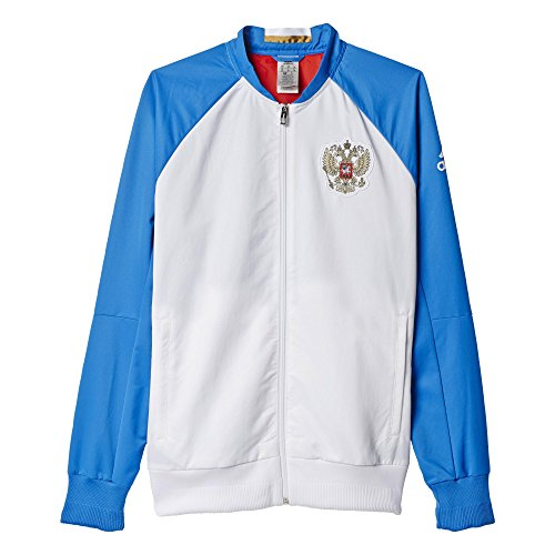 adidas Herren Fuβballjacke RFU ANTH Jacket WO Jacke White/Bright Royal/Red, S