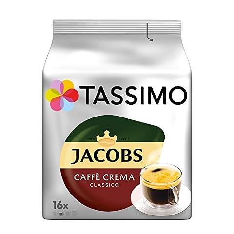 Tassimo Jacobs Caffè Crema Classico, 5er Pack Kaffee T Discs (5 x 16 Getränke)