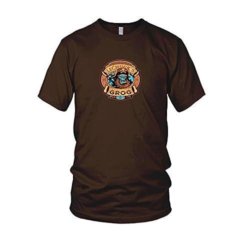 LeChuck's Grog - Herren T-Shirt, Größe: L, Farbe: braun