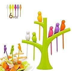 Bright Birds Fruit fork Set (Color may Vary)-AZ5044