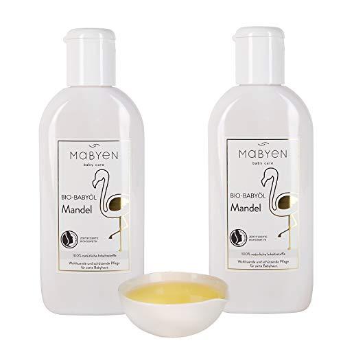 Mabyen Bio Babyöl - Mandel Öl Körperöl Massageöl Baby Pflegeöl Babypflege 400...