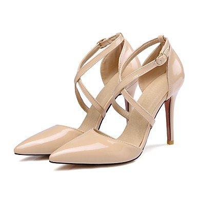 LvYuan Da donna-Sandali-Formale-Altro-A stiletto-Vernice-Nero Giallo Rosa Bianco Beige Yellow