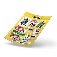ملصق من الفينيل - مجموعة Stickeraat 2 - ملصق للأمتعة والدراجات النارية - جمجمة ولعبة العروش، وسائل التواصل الاجتماعي، تاهليا القديس إنشالاه، فيمتو - ملصق من الفينيل [9 قطع)