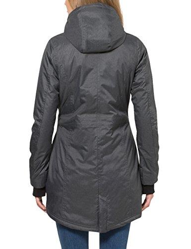 Berydale Damen Parka Jacke wasser- und winddicht, Gr. 34 (Herstellergröße: XS), Schwarz (Schwarz/Grau) - 2